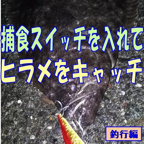 捕食スイッチを入れてヒラメをキャッチのアイキャッチ画像