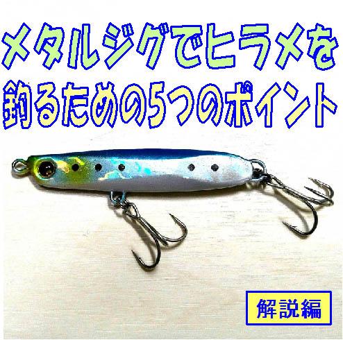 メタルジグでヒラメを釣るための5つのポイント