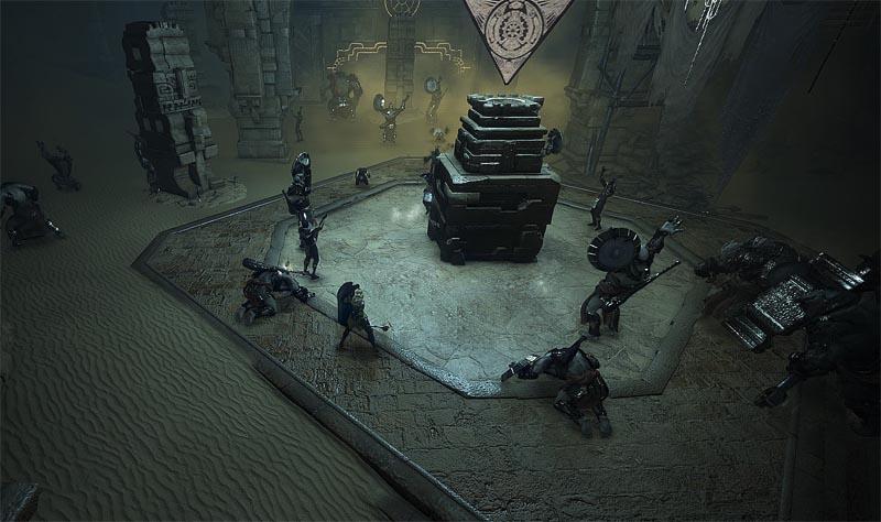アクマン寺院では1つの部屋にこもって狩りをする