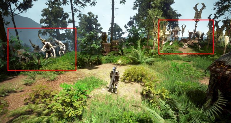 マンシャウムの森 モンスター配置