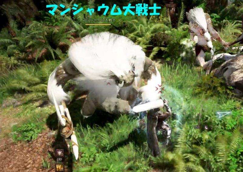 マンシャウム大戦士:ダウン攻撃に注意